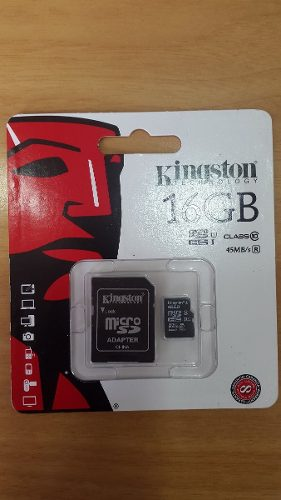 Memoria Micro Sd Kingston Clase 10 Hc I 16gb Original