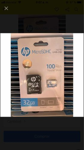 Memoria Micro Se Hp 32gb Clase 10
