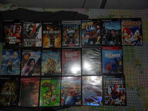 Vendo Juegos Originales De Playstation 2 Con Sus Manuales