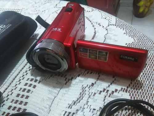Iof Camara Filmadora Dvc 16 Mp Hd (sin Memoria) Color Roja