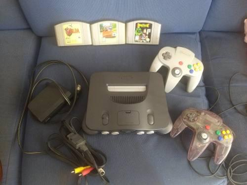 Nintendo 64 N64, 2 Controles, Expansion Pack, 3 Juegos New