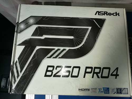 Tarjeta Madre Asrock B250 Pro4 Procesador  Y Memoria 4gb