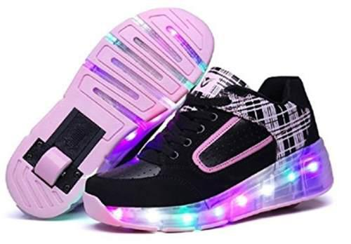 Zapatos Deportivos Ruedas Y Luces Para Niñas
