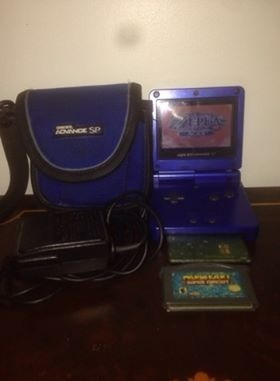 Game Boy Advance Sp 001 Azul