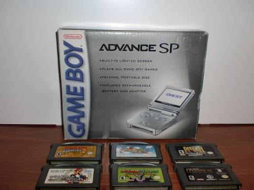 Game Boy Advance Sp + 6 Juegos - Como Nuevo!! ($90)