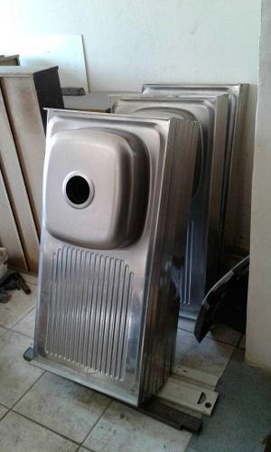 Lavaplatos / Fregadero Sobreponer 100cmx50cm En Acero Inox