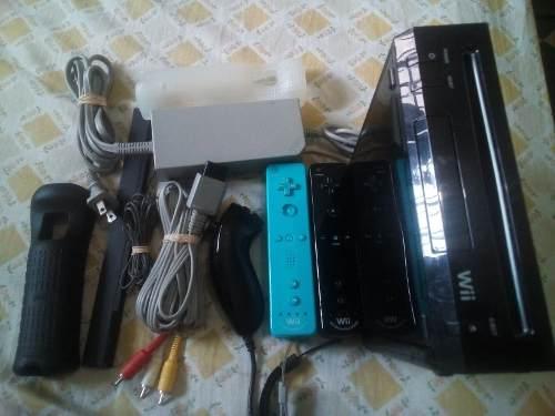 Nintendo Wii 2 Controles 7 Juegos Originales