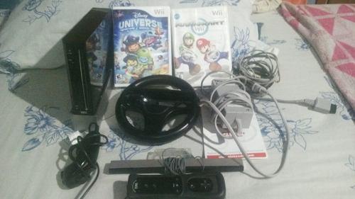 Nintendo Wii Con 4 Juegos Originales + Accesorios