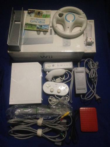 Nintendo Wii Con Disco Duro 315 Juegos + Accesorios