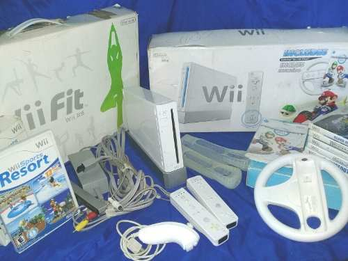 Nintendo Wii Original + Tabla Wii Fit + 8 Juegos Originales