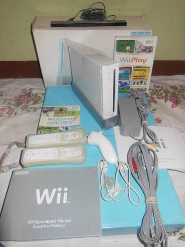 Nintendo Wii Todos Controles 2 Juegos Originales Como Nuevo