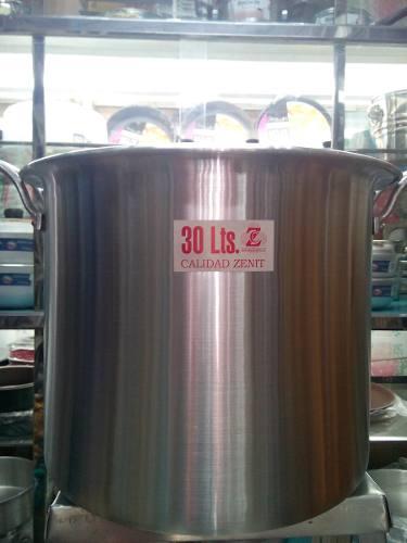 Olla Mondonguera De Aluminio Zenit Fuerte 30 Litros