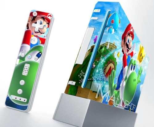 Skin Nintendo Wii + 2 Controles