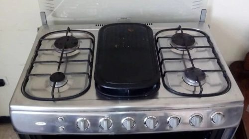 Cocina De 6 Hornillas-horno A Gas Marca Premiun Y Encendido