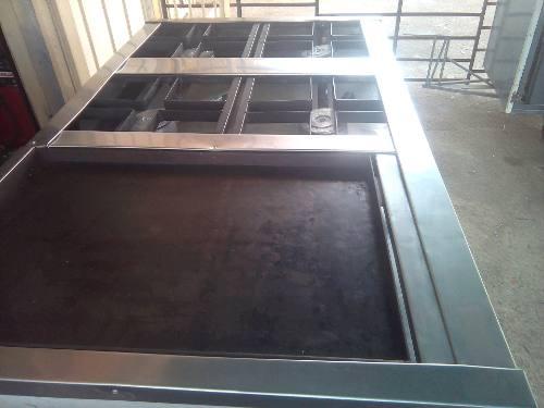 Cocina Industrial De 4 Hornilla, Plancha Y Horno