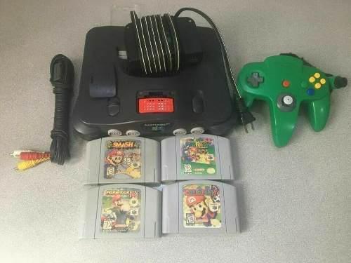 Combo Nintendo 64 Con Super Mario 64 Smash Kart Party