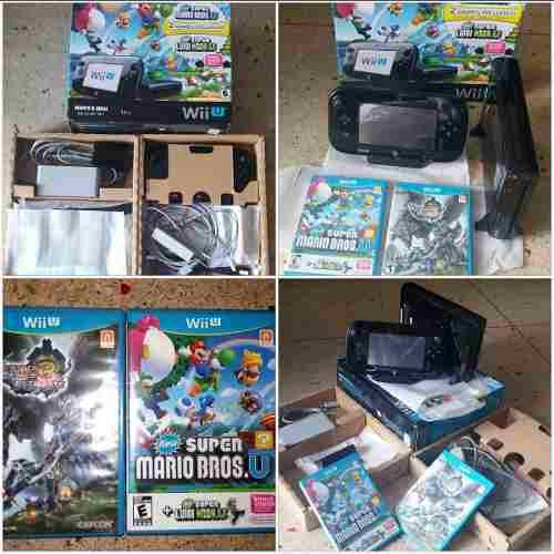 Consola Nintendo Wii U + 2 Juegos + Combo Original Wii F