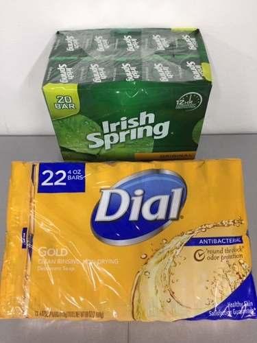 Irish Spring Y Dial Original, Jabón De Tocador