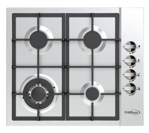 Tope De Cocina Premium 60 Cm A Gas Acero Inoxidable Garantia