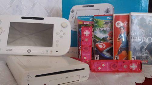 Wiiu De 8 Gb + 4 Juegos Con Todos Sus Accesorios