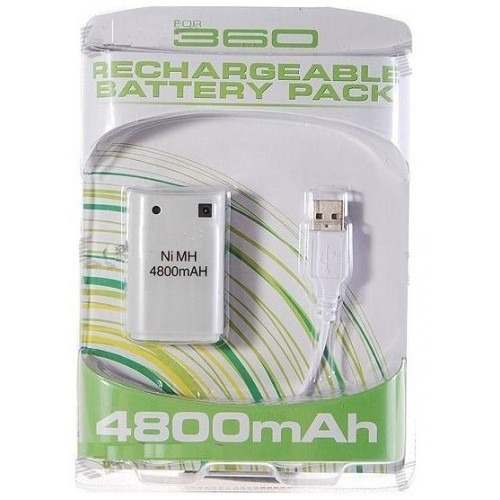 Xbox 360 Recargable Bateria Pack Ni Mh  Mah Usb S1
