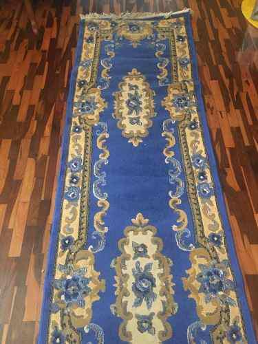 Alfombra Palillera O De Pasillo Azul
