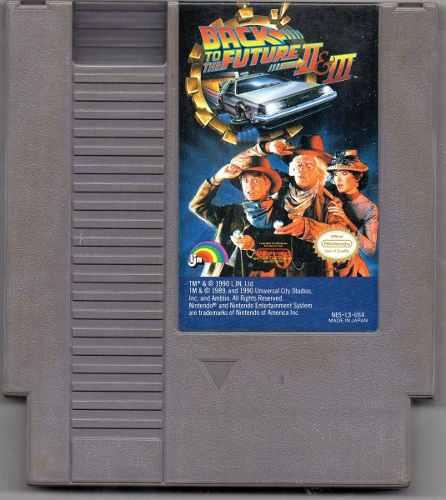 Back To The Future Ii & Iii. Nintendo Nes.juego Original Usa