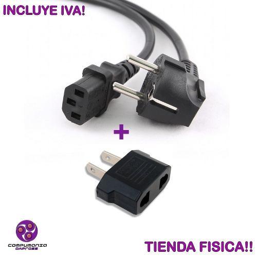 Cable De Poder Para Pc Monitor Impresora Conector Schuko New