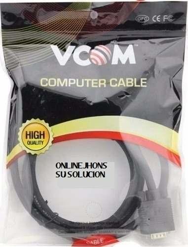 Cable Pc Vga Marca Vcom (Macho A Macho) 3.0 Metros