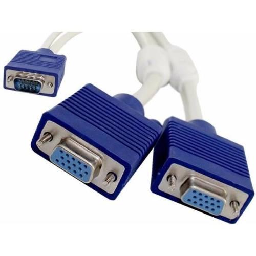 Cable Splitter 2 X 1 Vga 1 Macho A 2 Hembras Pc Disponioble!