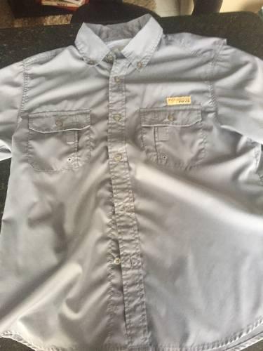 Camisa Columbia Original Talla 14 Para Niño Como Nueva