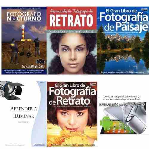 Combo 6 Libros Digitales Fotografía 7-12 Retrato Paisaje