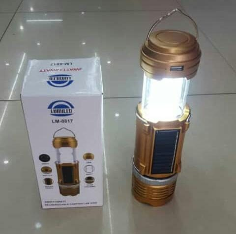 Linterna Recargable Con Panel Solar