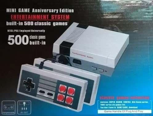 Nintendo Mini Con 2 Controles 500 Juegos Nuevo