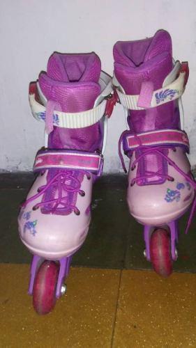 Patines En Linea Barbie Talla 32-35