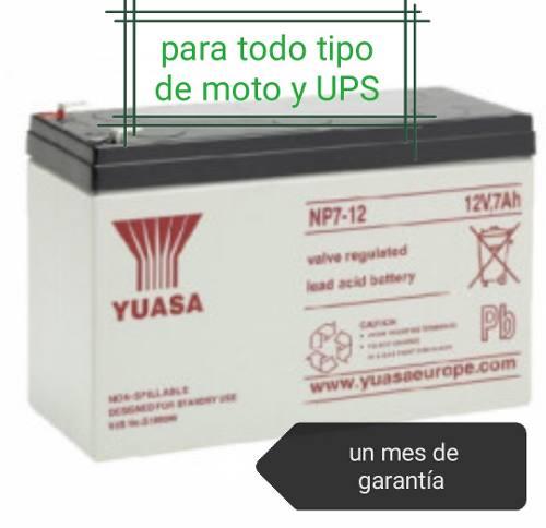 Pila Bateria 12v 9ah,7ah,35ah Para Todo Tipo De Moto Y Ups
