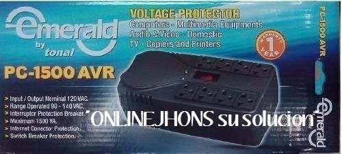 Regulador De Voltaje  Emerald Pc- Avr