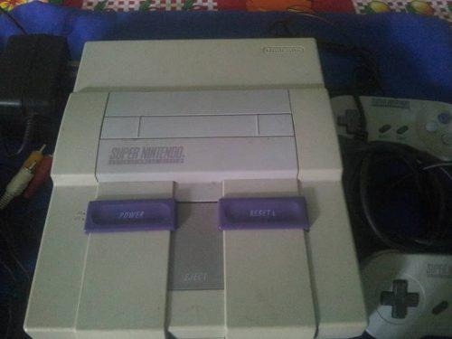 Super Nintendo Con 3 Juegos