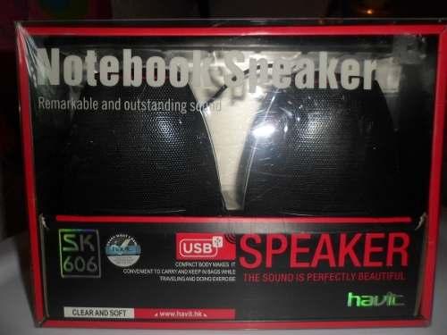 Corneta Portatil Marca Havit Notebook Speaker Usb 100% Nueva