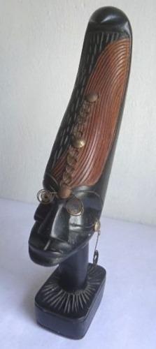 Antigua Escultura Tallada De Tribu Africana Original! Oferta