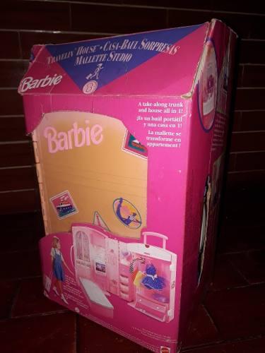 Casa Baul Sorpresa Barbie De Mattel Usada En Su Caja Oferta