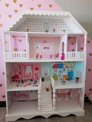 Casas Para Muñecas Elaboradas En Mdf Con Acabados De