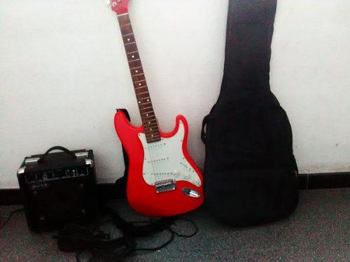 Guitarra Eléctrica D´andré Con Amplificador Y Accesorios