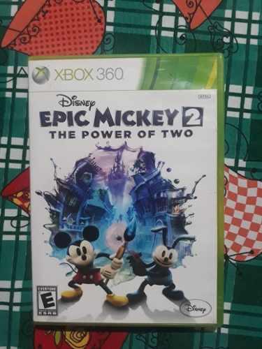 Juego Original De Xbox 360 Epic Mickey Mouse 2