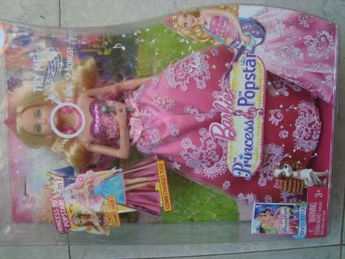 Muñeca Barbie Princess Popstar 2 En 1 Original De Mattel