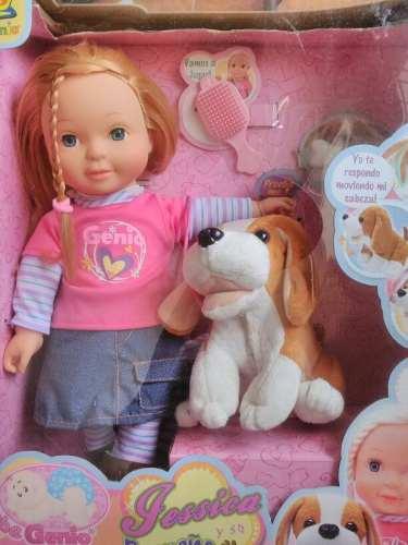 Muñeca Con Perrito