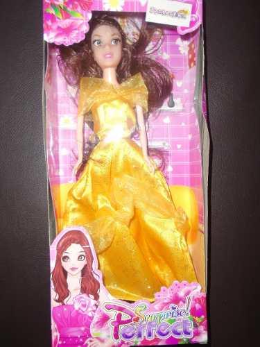 Princesa Bella Barbie Muñeca Niñas Juguete