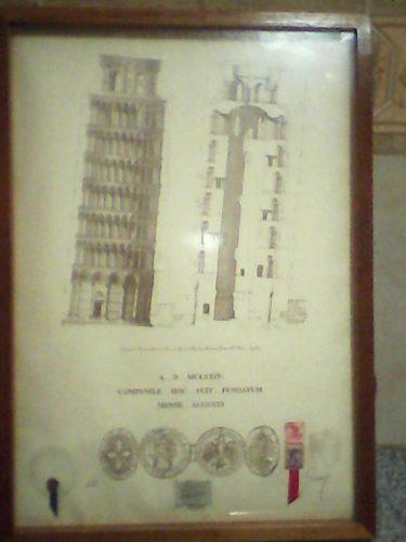 Serigrafia Planos De La Torre Inclinada De Pizza