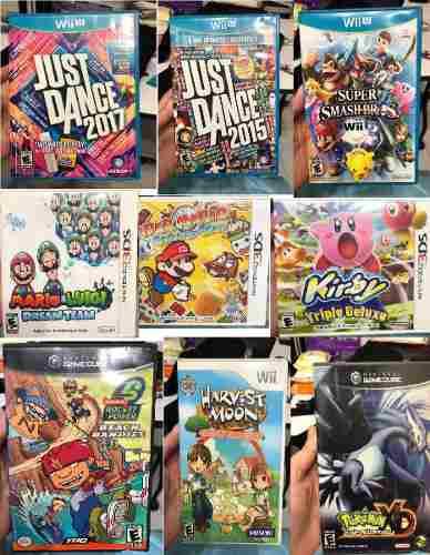 Varios Juegos Wii U + 3ds + Wii + Gamecube