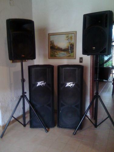 Vendo Equipo De Sonido Prof Cornetas Pasivas Y Amplificadas